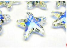 1pc Swarovski ® 16 mm AB cristal Starfish colgante