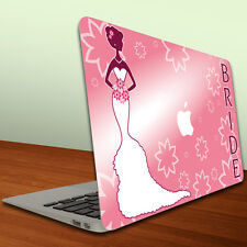Macbook Air or Pro 13 inch - Vinyl Removable Skin - Bride To Be - Pink Bride