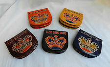 Leather D Shape Coin Purse - London / Crown Design - BNWT - Assorted Colours