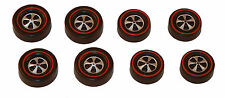 8 Brightvision Redline Wheels – 4 Large & 4 Med Cap Deep Dish Dull Chrome Style