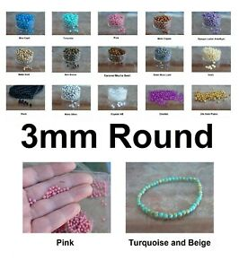 Very Small Round Spacer Czech Glass Beads 3mm 50 Pcs Ur PICK