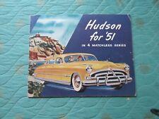 0407x  1951 Hudson sales catalog brochure showing the full line (best version)