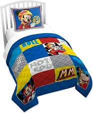 2p Disney Mickey Mouse Classic Twin/Full Bedding Patchwork Comforter & Sham Set