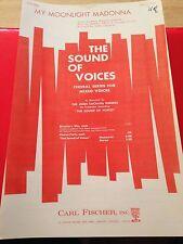 Lot 20 Copies MY MOONLIGHT MADONNA Secular Chorus Sheet Music SATB Mixed Voices