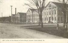 Rock Island Illinois~Few Of The Shops At Rock Island Arsenal~1910 Postcard