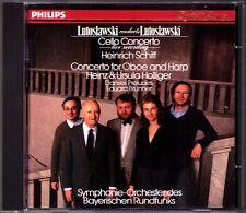 LUTOSLAWSKI Conducts CELLO OBOE HARP CONCERTO Heinrich Schiff Heinz Holliger CD