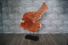 Deko Skulptur Litschi Lychee Baumscheibe rustikal wie Teak wurzel  G089