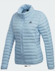 ADIDAS Womens Blue Varilite Soft Down Jacket Ladies Size M Medium RRP £100