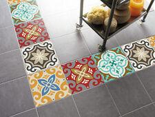 3M FLOOR STICKERS Anti-Slip vinyl Mural Art Tile 4Pc Decals Removable Home Decor