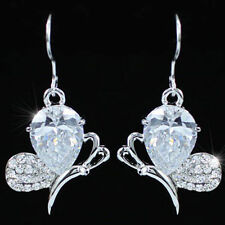 Butterfly Cubic Zirconia Silver Plated Fashion Earrings