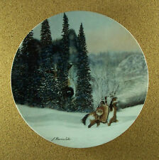 Wolf Ridge Faces of Nature Plate Native American Indian Camo Julie Kramer Cole