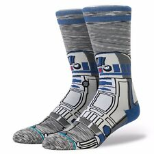 STANCE MENS STAR WARS SOCKS.R2 D2 UNIT DROID GREY LONG SIZE LARGE UK 8.5-11.5