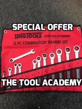 Teng Tools JUNE SALE 6512 12Pce Ratchet Combination Spanner Wrench Set 8 - 19mm