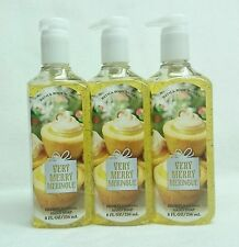 3 Bath & Body Works VERY MERRY MERINGUE Deep Cleansing Hand Soap