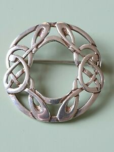 Exquisite Solid Silver Celtic Brooch.
