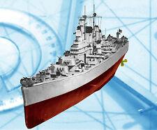 "Model Boat Plan Scale 10""=112' L 64"" & 1/144 L 58 3/4 Radio Control USS Newport"