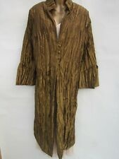 glamorous old gold crinkle evening coat size 20