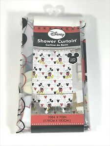 Disney Mickey Mouse Shower Curtain 70x72 NWT