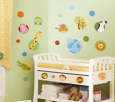 RoomMates Wandtattoo Dschungel Tiere Polka Dot Wandsticker Dschungeltiere Punkte