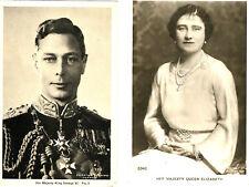 King George VI and Queen Elizabeth Postcards 1936  B