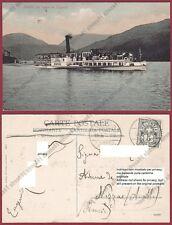 SVIZZERA SUISSE SCHWEIZ LUGANO 10 BATTELLO SEMPIONE Cartolina viaggiata 1905