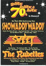 The SWEET SHOWADDYWADDY RUBETTES 2003 Tour 2-sided FLYER /mini Poster 8x6 inch