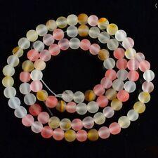 VB3573-h 4mm Matte Volcano Cherry Quartz Ball Loose Beads 15''