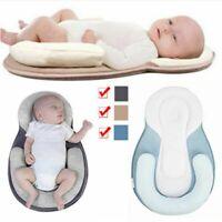 Infant Baby Newborn Pillow Cushion Prevent Flat Head Sleep Nest Pod Anti Roll uk