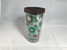 Tervis Tumbler Fiesta Cool Blue Flowers16 oz. with Travel Lid