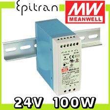 Alimentatore stabilizzato regolabile DC da barra DIN 24V 100W 4.15A Mean Well