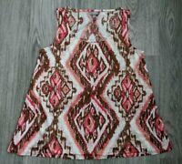 J. Jill Stretch 100% Linen Sleeveless Tank Top Shirt Blouse Women's Small