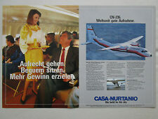 6/1984 PUB CASA CN-235 PRINAIR AIRLINE HOTESSE STEWARDESS ORIGINAL GERMAN AD