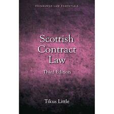 Scottish Contract Law Essentials (Edinburgh Law Essenti - Paperback NEW Tikus Li