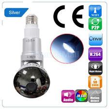 Mirror Bulb Security Camera DVR WIFI IP Motion Detector E27 LED Light New
