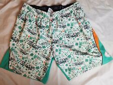 Flow Society Certified Boy's Green Ireland Lacrosse Shorts Youth Size Xl
