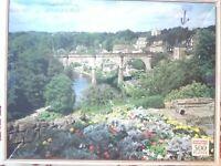 Rare Knaresborough Yorkshire 500 Jigsaw Puzzle River Nidd Viaduct MISSING PIECE.