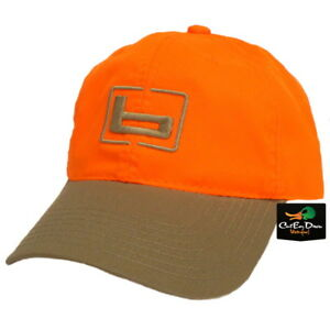 "NEW BANDED GEAR UPLAND HUNTING CAP HAT BLAZE ORANGE TAN W/ ""b"" LOGO ADJUSTABLE"
