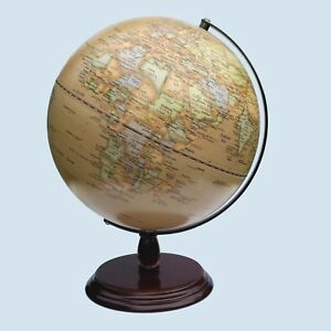 GORGEOUS HIGH QUALITY Antique Style World Educational Globe 30cm Home Decor Gift