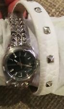 DIESEL DZ5447 MINI DOUBLE WRAP STRAP STAINLESS AND LEATHER WOMENS WATCH