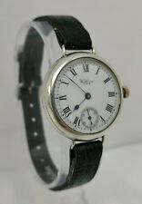 Vtg 1921 Waltham USA Grade 561 Solid Sterling Silver Trench Style Wrist Watch