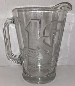 Houston Texans 10th Anniversary NFL Glass Pitcher 2002-2012