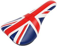Total Brit Pivotal Bmx Seat Union Jack Rouge Blanc & Bleu Vélo Slim Selle Custom