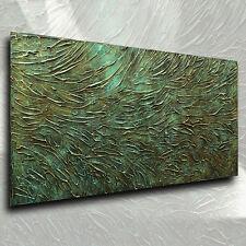 texturé art abstrait Peinture Moderne Bronze look contemporain original M. Lang