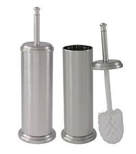 Toilet Brush and Canister Brushed Nickel Finish 2 Pack