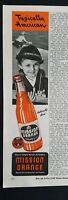 1944 Mission Orange soda bottle little girl Coast Guard cap ad