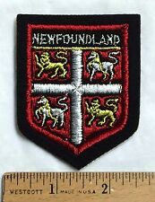 NEWFOUNDLAND Canada Coat of Arms Crest Souvenir Sew-on Patch Badge
