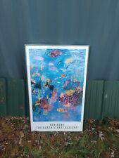 """VTG original KEN DONE Queen Street Gallery print poster Opal Reef 1991 38 x 24"""""""