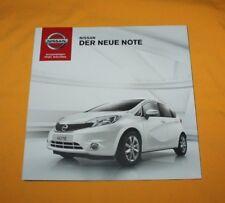 Nissan Note 2013 Prospekt Brochure Catalog Depliant Folder Prospetto Broschyr