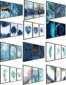 Set of 3 Wall Art Prints Living Room Bedroom Pictures Posters UNFRAMED - FRAMED