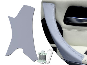 Passenger Side Inner Door Handle Pull Trim Leather Cover BMW 3 Series E90 Grey